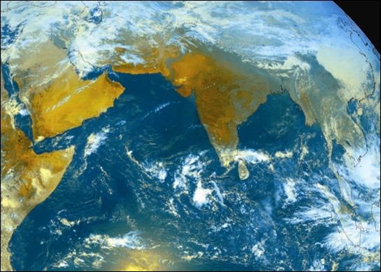 Mousson vue par satellite