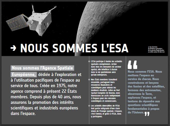 Présentation ESA